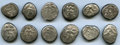 Ancients:Ancient Lots , Ancients: ANCIENT LOTS. Greek. Pamphylia. Aspendus. Ca. mid-5thcentury BC. Lot of twelve (12) AR staters. Fine-VF, test cuts. ...(Total: 12 coins)