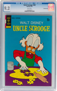 Uncle Scrooge #100 White Mountain Pedigree (Gold Key, 1972) CGC NM- 9.2 White pages