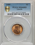 Lincoln Cents, 1909 1C MS66 Red PCGS Gold Shield. PCGS Population: (554/77). NGC Census: (188/6). CDN: $200 Whsle. Bid for problem-free NG...