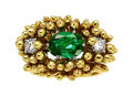 Estate Jewelry:Rings, Emerald, Diamond, Gold Ring, Schlumberger for Tiffany & Co...