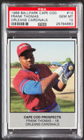 Baseball Cards:Singles (1970-Now), 1988 Ballpark Cape Cod Frank Thomas #14 PSA Gem Mint 10....
