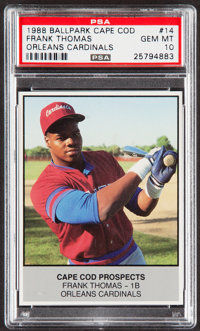 1988 Ballpark Cape Cod Frank Thomas #14 PSA Gem Mint 10
