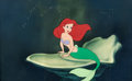 Animation Art:Painted cel background, The Little Mermaid Ariel Color Model Cel on Production Background (Walt Disney, 1989). ...
