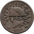 """Political:Tokens & Medals, Homestead Movement: """"Vote the Land Free"""" Token.. ..."""