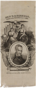 Political:Ribbons & Badges, William Henry Harrison: Silk Portrait Ribbon....