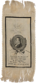 Political:Memorial (1800-present), DeWitt Clinton: Memorial Silk Portrait Ribbon....
