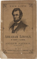 Political:Small Paper (pre-1896), Abraham Lincoln: 1864 Campaign Biography in Pictorial Wraps....