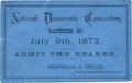 Political:Small Paper (pre-1896), [Horace Greeley]: 1872 DNC Ticket....