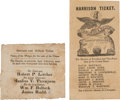 Political:Small Paper (pre-1896), William Henry Harrison: 1840 Maryland and Kentucky Ballots....(Total: 2 Items)