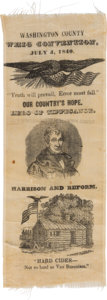 Political:Ribbons & Badges, William Henry Harrison: One-Day Event Convention Ribbon....