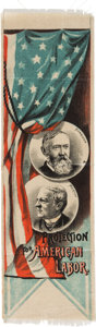 Political:Ribbons & Badges, Harrison & Morton: Choice and Colorful Jugate Ribbon....