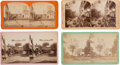 Political:Small Paper (pre-1896), William McKinley et al: 19th Century Photographs of StreetBanners....
