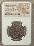 Ancients:Byzantine, Ancients: Anonymous. Class A3. Time of Basil II and Constantine VIII (AD 1020-1028). AE follis (27mm, 11.23 gm, 5h). NGC XF 4/5 - 5/5....