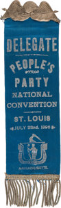 Political:Ribbons & Badges, [William Jennings Bryan]: 1896 People's Party Convention Ribbon....