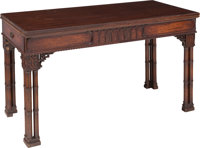 A Georgian-Style Flip-Top Console Table, late 19th century 29-1/2 x 80 x 42 inches (74.9 x 203.2 x 106.7 cm) (exte