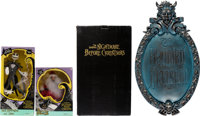 Tim Burton's The Nightmare Before Christmas Jack and Zero/Santa Puppets and Wall Plaque Group of 3 (Disney/Touchstone...