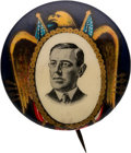 Political:Pinback Buttons (1896-present), Woodrow Wilson: Rare & Colorful Golden Eagle Picture Pin....
