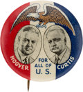 Political:Pinback Buttons (1896-present), Hoover & Curtis: 1932 Golden Eagle Jugate. ...