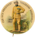 Political:Pinback Buttons (1896-present), Theodore Roosevelt: Classic Vice Presidential Button. ...