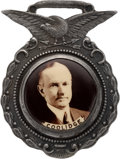 Political:Pinback Buttons (1896-present), Calvin Coolidge: Real Photo Portrait Watch Fob....