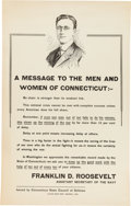 Political:Posters & Broadsides (1896-present), Franklin D. Roosevelt: Assistant Secretary of the Navy Poster....