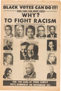 Political:Posters & Broadsides (1896-present), Humphrey & Muskie: Anti-Racism Campaign Newspaper....
