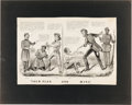 Political:Posters & Broadsides (pre-1896), Abraham Lincoln: 1864 Anti-Slavery Theme Currier & Ives Cartoon....