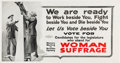 Political:Posters & Broadsides (1896-present), Woman's Suffrage: Terrific WWI War Effort Placard. ...