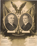 Political:Posters & Broadsides (1896-present), Harding & Coolidge: Graphic Jugate Poster....
