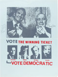 Political:Posters & Broadsides (1896-present), George McGovern and Richard J. Daley: Signed Poster....