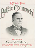 Political:Posters & Broadsides (1896-present), William McKinley: Impressive, Graphic, Newspaper Advertising Poster....