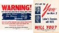Political:Posters & Broadsides (1896-present), Harry S Truman and Lyndon B. Johnson: Rare 1948 Posters.... (Total:2 Items)