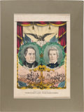 Political:Posters & Broadsides (pre-1896), Cass & Butler: Kellogg Jugate Grand National Banner with Full Borders....