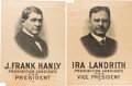 Political:Posters & Broadsides (1896-present), Hanly & Landrith: Pair of Large, Bold, Graphic, ProhibitionParty Posters.... (Total: 2 Items)