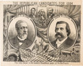Political:3D & Other Display (pre-1896), Blaine & Logan: Highly Graphic Jugate Poster....