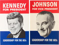 Political:Posters & Broadsides (1896-present), John F. Kennedy: JFK & LBJ Posters.... (Total: 2 Items)