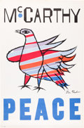 Political:Posters & Broadsides (1896-present), Eugene McCarthy: Ben Shahn Peace Poster....