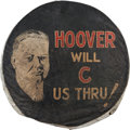 Political:3D & Other Display (1896-present), Herbert Hoover: 1932 Portrait Tire Cover.. ...