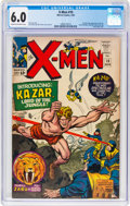 Silver Age (1956-1969):Superhero, X-Men #10 (Marvel, 1965) CGC FN 6.0 Cream to off-white pages....