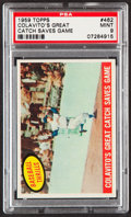 """Baseball Cards:Singles (1950-1959), 1959 Topps Rocky Colavito """"Colavito's Great Catch Saves Game"""" #462PSA Mint 9...."""