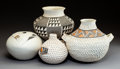 American Indian Art:Pottery, Four Contemporary Acoma Jars. ... (Total: 4 Items)