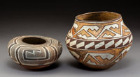 Two Acoma Polychrome Jars c. 1905 and 1910