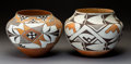 American Indian Art:Pottery, Two Acoma Polychrome Storage Jars. Lolita Concho and Cindy Dewahe. c. 1975... (Total: 2 Items)