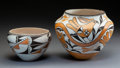 American Indian Art:Pottery, Two Acoma Polychrome Jars . Nellie Garcia and Lucy M. Lewis. c. 1969 and 1990... (Total: 2 Items)