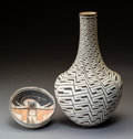 American Indian Art:Pottery, Two Southwest Pottery Vessels . Michael Kanteena and Marie Z. Chino . c. 1974 and 2000... (Total: 2 Items)