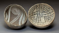 American Indian Art:Pottery, Two Anasazi Black-On-White Bowls... (Total: 2 Items)