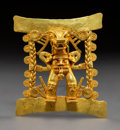 Pre-Columbian:Metal/Gold, A Large and Important Diquis Gold Pendant. c. 700-1400 AD...
