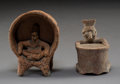 Pre-Columbian:Ceramics, Two Small Colima Figures including ...