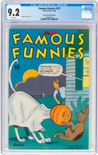 Famous Funnies #123 Mile High Pedigree (Eastern Color, 1944) CGC NM- 9.2 White pages