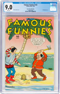 Golden Age (1938-1955):Miscellaneous, Famous Funnies #124 Mile High Pedigree (Eastern Color, 1944) CGC VF/NM 9.0 White pages....